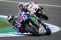 Jorge Lorenzo during the free practice in Motorcycle Championship GP, in Jerez, Spain. April 22, 2016