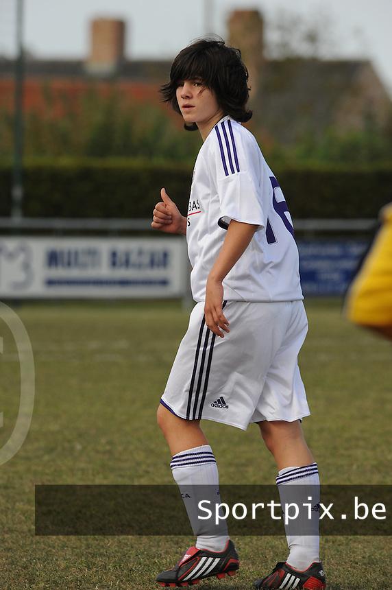 DVK Egem - RSC Anderlecht : Annelies Van Loock.foto DAVID CATRY / Vrouwenteam.be