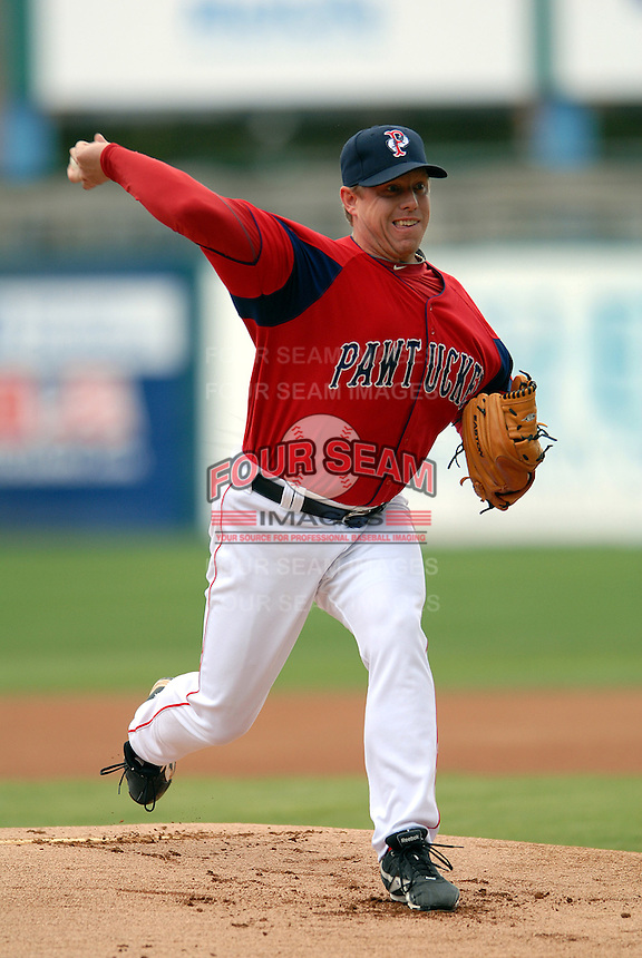 Pitcher Brandon Duckworth #38 of the Pawtucket Red Sox during a game versus the Syracuse Chiefs on April 21, 2011 at McCoy Stadium in Pawtucket, Rhode Island. Photo by Ken Babbitt /Four Seam Images