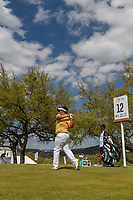 Kiradech Aphibarnrat (THA) watches his tee shot on 12 during day 2 of the World Golf Championships, Dell Match Play, Austin Country Club, Austin, Texas. 3/22/2018.<br /> Picture: Golffile | Ken Murray<br /> <br /> <br /> All photo usage must carry mandatory copyright credit (&copy; Golffile | Ken Murray)