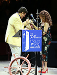 Dale Badway and Bernadette Peters during the 74th Annual Theatre World Awards at Circle in the Square on June 4, 2018 in New York City.