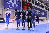 SPEED SKATING: SALT LAKE CITY: 19-11-2015, Utah Olympic Oval, ISU World Cup, training, Erik Bouwman (trainer/coach Team KOR), ©foto Martin de Jong