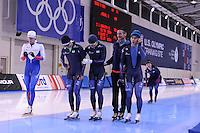 SPEED SKATING: SALT LAKE CITY: 19-11-2015, Utah Olympic Oval, ISU World Cup, training, Erik Bouwman (trainer/coach Team KOR), ©foto Martin de Jong