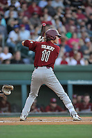LT Tolbert (11) of the South Carolina Gamecocks bats in a game against the Furman Paladins on Wednesday, April 20, 2016, at Fluor Field at the West End in Greenville, South Carolina. (Tom Priddy/Four Seam Images)