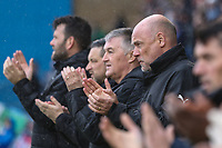 Fleetwood Town management team during a minutes applause in memory of Jimmy Armfield ahed of the Sky Bet League 1 match between Gillingham and Fleetwood Town at the MEMS Priestfield Stadium, Gillingham, England on 27 January 2018. Photo by David Horn.