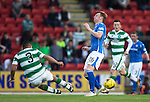 St Johnstone v Celtic&hellip;.McDiarmid Park, Perth.. 11.05.16<br />Emilio Izaguirre lunges into a tackle on Liam Craig<br />Picture by Graeme Hart.<br />Copyright Perthshire Picture Agency<br />Tel: 01738 623350  Mobile: 07990 594431