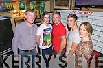 RACE NIGHT: The Abbeyfeale Development Association held a donkey derby on Friday night in Jack Ryan's Bar, Abbeyfeale, and pictured at the event were l-r: Jack Ryan, Padraig Enright, Sean Buck, Sam Fearnehough and Áine Ryan.