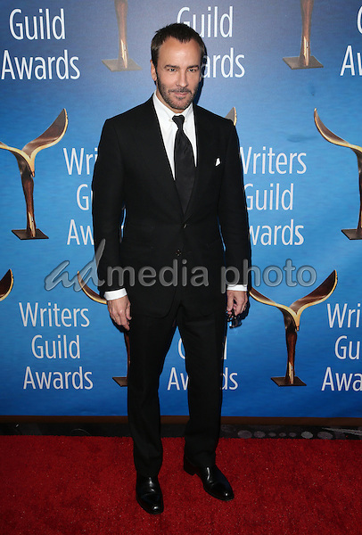 19 February 2017 - Beverly Hills, California - Tom Ford. 2017 Writers Guild Awards L.A. Ceremony held at the Beverly Hilton. Photo Credit: AdMedia