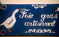 Europe/France/Alsace/68/Haut-Rhin/Eguisheim: Enseigne Foie Gras Artisanal d'Oie