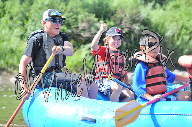 Colorado River Guides crashing Cable Rapid while floating the Upper Colorado River from Rancho to State Bridge, July 10, 2013, Morning Trip, AM, Bond, Colorado - WhiteWater-Pix | River Adventure Photography - by MADOGRAPHER Doug Mayhew