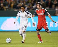 CARSON, CA – June 11, 2011: LA Galaxy midfielder Miguel Lopez (25) during the match between LA Galaxy and Toronto FC at the Home Depot Center in Carson, California. Final score LA Galaxy 2, Toronto FC 2.