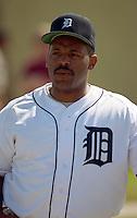Detroit Tigers Cecil Fielder (45) during Spring Training 1993 at Joker Marchant Stadium in Lakeland, Florida.  (MJA/Four Seam Images)
