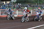 LAKESIDE HAMMERS v PETERBOROUGH PANTHERS<br /> ELITE LEAGUE<br /> FRIDAY 10TH MAY 2013<br /> ARENA-ESSEX<br /> HEAT 2<br /> Richard  Lawson (Red), Robert Mear (Blue), Patrick Hougaard (White), Dakota North (Yellow)