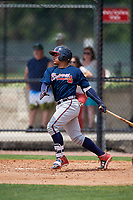 Atlanta Braves William Contreras (53) during a Minor League Extended Spring Training game against the Philadelphia Phillies on April 20, 2018 at Carpenter Complex in Clearwater, Florida.  (Mike Janes/Four Seam Images)
