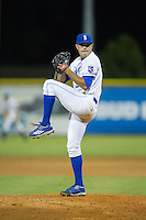 Burlington Royals relief pitcher Anthony Kidston (21) in action against the Princeton Rays at Burlington Athletic Stadium on August 12, 2016 in Burlington, North Carolina.  The Royals defeated the Rays 9-5.  (Brian Westerholt/Four Seam Images)