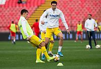 17th November 2019; Stadion Rajko Mitic, Belgrade, Serbia; European Championships 2020 Qualifier, Serbia versus Ukraine; Roman Yaremchuk of Ukraine warms up  - Editorial Use