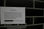 24/03/2020 in Pergine Valsugana, Italy. Most part of Europe is today on a sweeping confinement to try to slow down the spread of the Covid-19 Pandemic. #Irestoacasa 'I stay Home' message on a gate of a closed shop.