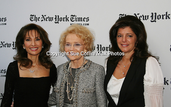 Susan Lucci and Agnes Nixon and Julie Hanan Carruthers - All My Children at 40 celebrate on January 10, 2010 at the New York Times Arts & Leisure Weekend at the TimesCenter Stage, New York City, New York. (Photo by Sue Coflin/Max Photos)