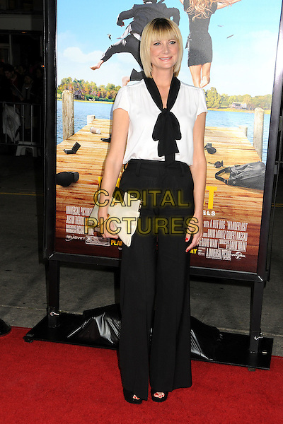 "Keri Kenney Silver.""Wanderlust"" Los Angeles Premiere held at the Regency Village Theatre, Westwood, California, USA..February 16th, 2012.full length trousers top clutch bag black white scarf pussybow .CAP/ADM/BP.©Byron Purvis/AdMedia/Capital Pictures."