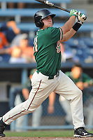Greensboro Grasshoppers designated hitter Jacob Realmuto #11 swings at a pitch during the first game of a double header against the Asheville Tourists at McCormick Field on July 26, 2011 in Asheville, North Carolina. Asheville won the game 12-4.   (Tony Farlow/Four Seam Images)