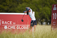 Celine Boutier (FRA) watches her tee shot on 10 during round 4 of the Volunteers of America Texas Classic, the Old American Golf Club, The Colony, Texas, USA. 10/6/2019.<br /> Picture: Golffile | Ken Murray<br /> <br /> <br /> All photo usage must carry mandatory copyright credit (© Golffile | Ken Murray)