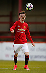 Indy Boonen of Manchester Utd during the U18 Premier League Merit Group A match at The J Davidson Stadium, Altrincham. Date 12th May 2017. Picture credit should read: Simon Bellis/Sportimage