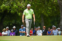 Tyrrell Hatton (ENG) barely misses his birdie putt on 2 during round 3 of the 2019 Charles Schwab Challenge, Colonial Country Club, Ft. Worth, Texas,  USA. 5/25/2019.<br /> Picture: Golffile | Ken Murray<br /> <br /> All photo usage must carry mandatory copyright credit (© Golffile | Ken Murray)