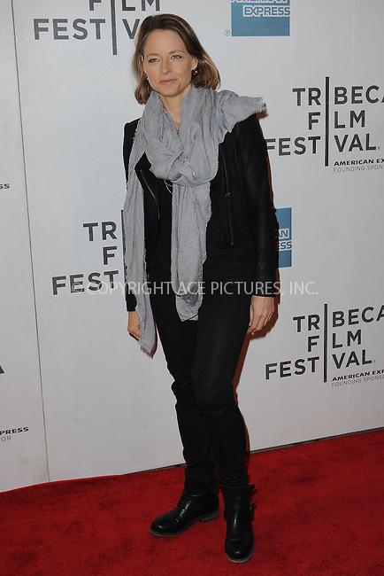 WWW.ACEPIXS.COM . . . . . .April 20, 2013...New York City....Jodie Foster attends the World Premiere of Sunlight Jr. at the Tribeca Film Festival  on April 20, 2013 in New York City.....Please byline: KRISTIN CALLAHAN - WWW.ACEPIXS.COM.. . . . . . ..Ace Pictures, Inc: ..tel: (212) 243 8787 or (646) 769 0430..e-mail: info@acepixs.com..web: http://www.acepixs.com .