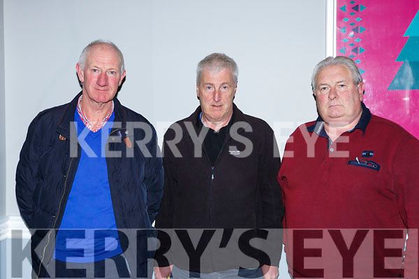 Liam Browne Beale, Michael O'Sullivan Tousist, and Ger Hanafin Ardfert at the Kerry GAA County Board Convention in the INEC on Monday night