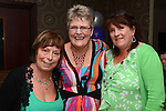 Paulette McArdle (centre) pictured at  her 50th birthday party in Nano Reids with friends Bernie Markey and Caroline Moran. www.newsfile.ie