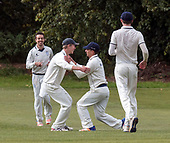 Cricket Scotland National League Final - Prestwick CC V Heriots CC - Heriots celebrate a wicket - picture by Donald MacLeod - 20.08.2017 - 07702 319 738 - clanmacleod@btinternet.com - www.donald-macleod.com