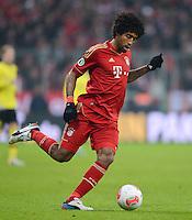 FUSSBALL  DFB-POKAL  VIERTELFINALE  SAISON 2012/2013    FC Bayern Muenchen - Borussia Dortmund          27.02.2013 Dante (FC Bayern Muenchen) Einzelaktion am Ball