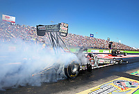 Sept. 21, 2013; Ennis, TX, USA: NHRA top fuel dragster driver Brittany Force during the Fall Nationals at the Texas Motorplex. Mandatory Credit: Mark J. Rebilas-