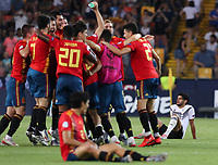 Spain Spain  wins and celebrate the cup<br /> Udine 30-06-2019 Stadio Friuli <br /> Football UEFA Under 21 Championship Italy 2019<br /> final<br /> Spain - Germany<br /> Photo Cesare Purini / Insidefoto