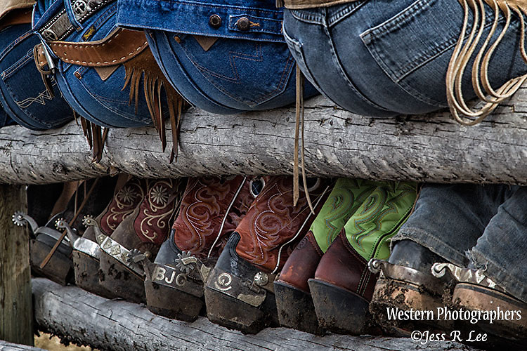 Boots, Butts and Spurs. Cowboys and cowgirls setting on a rail. Cowboy Photos, riding,roping,horseback