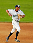 31 July 2007:  Vermont Lake Monsters infielder Jake Rogers in action against the Hudson Valley Renegades at Historic Centennial Field in Burlington, Vermont. The Lake Monsters defeated the Renegades 6-1 in the second game of their 3-game series...Mandatory Photo Credit: Ed Wolfstein Photo