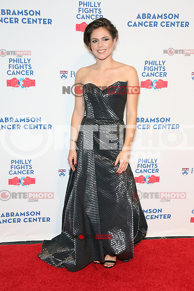 PHILADELPHIA, PA - OCTOBER 28: Caly Bevier  pictured backstage  at Philly Fights Cancer round 3 at The Navy Yard in Philadelphia, Pa on October 28, 2017  Credit: Star Shooter/MediaPunch /NortePhoto.com