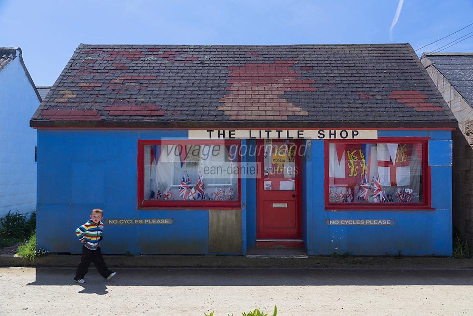 Royaume-Uni, îles Anglo-Normandes, île de Sark (Sercq) : Petite boutique // United Kingdom, Channel Islands, Sark Island (Sercq): little shop