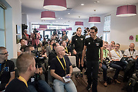 "Team Trek-Segafredo press conference 1 day before the start of the 104th Tour de France 2017 at ""Le Grand Départ"" in Düsseldorf/Germany"