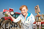 CHAMPION: Laura Collins from Kilmoyley who is now the top female Tractor Puller in Ireland.   Copyright Kerry's Eye 2008
