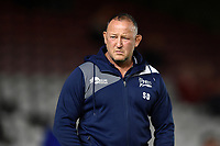 Sale Sharks Director of Rugby Steve Diamond looks on during the pre-match warm-up. Aviva Premiership match, between Harlequins and Sale Sharks on October 6, 2017 at the Twickenham Stoop in London, England. Photo by: Patrick Khachfe / JMP