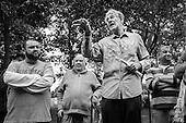 Conspiracy theorist, Speakers' Corner, Hyde Park, London.