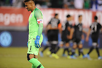 EAST RUTHERFORD, NJ - SEPTEMBER 7: Zack Steffen #1 of the United States after Mexico scored during a game between Mexico and USMNT at MetLife Stadium on September 6, 2019 in East Rutherford, New Jersey.