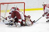 Chad Morin (Harvard - 7), Chris Huxley (Harvard - 28), Jimmy Hayes (BC - 10), Sam Bozoian (Harvard - 18) - The Boston College Eagles defeated the Harvard University Crimson 3-2 on Wednesday, December 9, 2009, at Bright Hockey Center in Cambridge, Massachusetts.