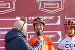 Marianne Vos (NED) CCC Liv at sign on before the Strade Bianche Women Elite 2019 running 133km from Siena to Siena, held over the white gravel roads of Tuscany, Italy. 9th March 2019.<br /> Picture: Seamus Yore | Cyclefile<br /> <br /> <br /> All photos usage must carry mandatory copyright credit (© Cyclefile | Seamus Yore)