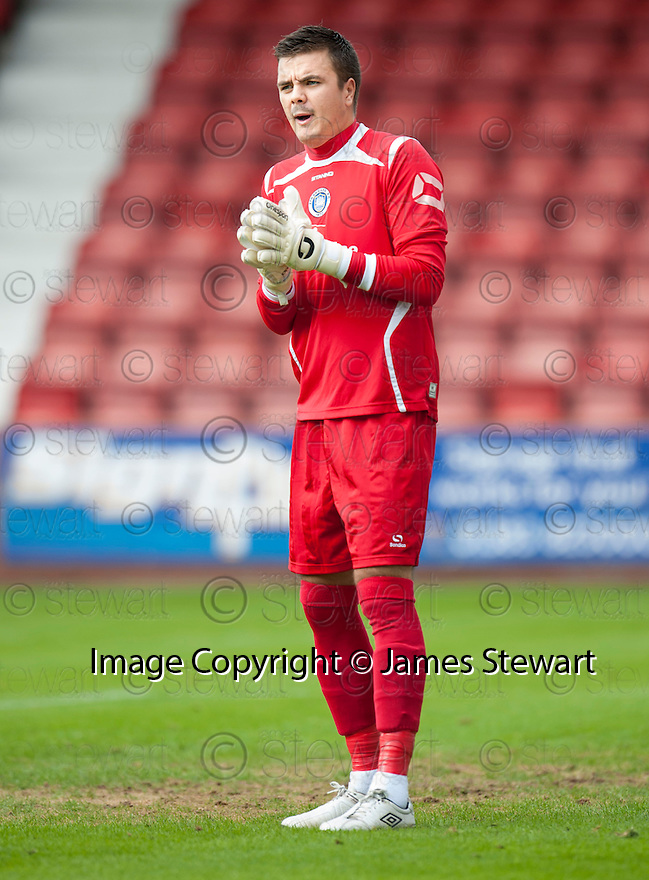 Stranraer keeper David Mitchell.