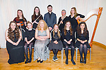 The Finalists in the Kerry School of Music awards Concert at Ballyroe Heights on Sunday. Pictured front l-r Caitríona Fitzmaurice, Tarbert, vocalist, Orla O Sullivan, Killorglin,  pianist, Mary Daniel,Farranfore,  soprano, Katrina Roberts, Castlegregory, Pianist, Tess Dowling, Castlegregory, Pianist, Eden Abrahams, Tralee, Chelo, Back l-r Caoimhe Doyle, Killarney, Violin, Muireann Ní Mhathúna, Lixnaw, vocalist and Flute, Donal O'Mahony,  Lixnaw, Pianist, Marguerite Wallace, Tralee, Flute, Shelley Ní Eidhin Tralee , Harp