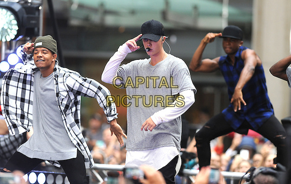 NEW YORK, NY - SEPTEMBER 10: Justin Bieber performs on the Today Show on September 10, 2015  at Rockefeller Center in New York City. <br /> CAP/MPI/STV<br /> &copy;STV/MPI/Capital Pictures