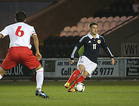 Rhys McCabe in the Scotland v Luxembourg UEFA Under 21 international qualifying match at St Mirren Park, Paisley on 6.9.12.