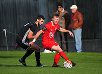 Action from the Chatham Cup football match between Caversham and Northern Hearts at Tonga Park in Dunedin, New Zealand on Saturday, 11 May 2019. Photo: Dave Lintott / lintottphoto.co.nz